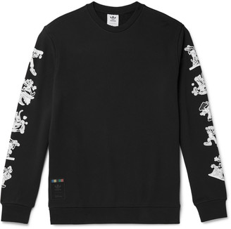 adidas + Disney Goofy Printed Loopback Cotton-Jersey Sweatshirt