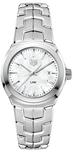 Tag Heuer Link Mother-Of-Pearl Watch, 32mm