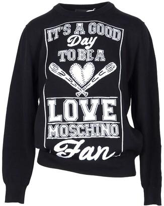 Love Moschino Black & White Cotton Women's Sweater
