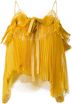 Rochas pleated bow cami - women - Silk/Polyamide - 40