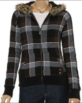 Roxy - Short Stack Zippered Hoodie (Coffee)
