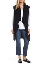 Women's Halogen Waterfall Drape Front Cashmere Vest