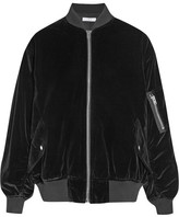 IRO Oversized Cotton-velvet Bomber Jacket - Black