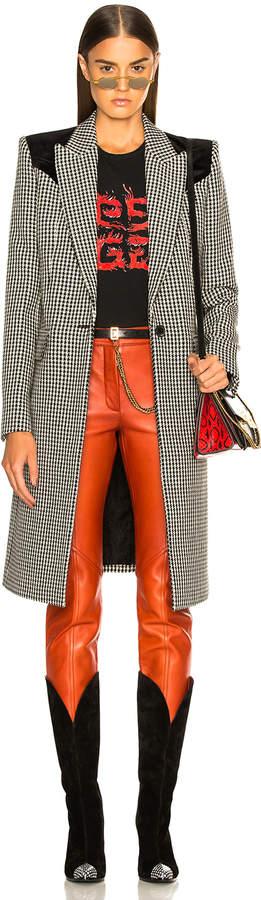 Givenchy Houndstooth & Velvet Coat