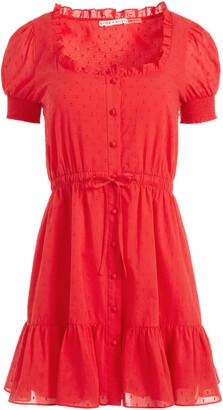 Alice + Olivia Avi Button Down Mini Dress