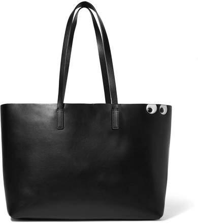 Anya Hindmarch Ebury Shopper Embossed Leather Tote - Black