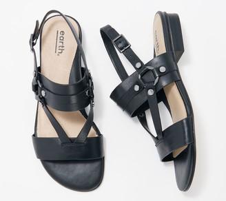 Earth Leather Strap Sandals - Mykonos Delos
