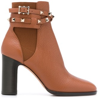 Valentino Rockstud buckle ankle booties