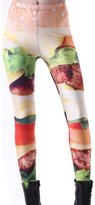 Your Gallery Pants Your Gallery Womens Bright Color Food Print Leggings Stretch Running Punk Pants