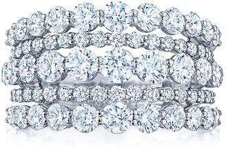 Kwiat 18kt white gold diamond Lyric ring