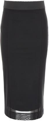 Dolce & Gabbana Sheer Overlay Pencil Skirt
