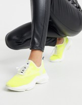 Steve Madden neon sporty trainer in yellow