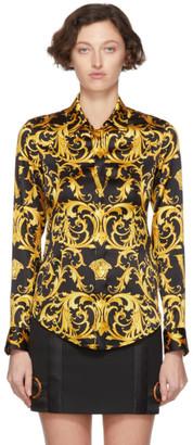 Versace Black V Baroque Shirt