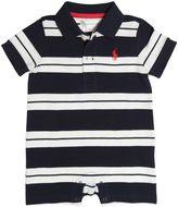 Ralph Lauren Striped Cotton Piqué Polo Romper