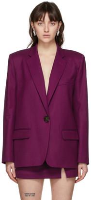 ATTICO Purple Wool Bianca Blazer