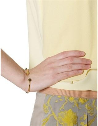 Sarah Chloe Gold Plated Lily Bangle