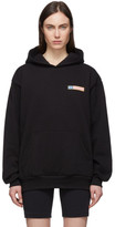 Sporty And Rich Sporty and Rich Black Flag Logo Hoodie