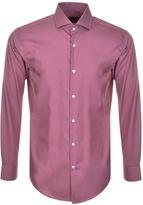 HUGO BOSS Black Jerrin Slim Fit Shirt Pink