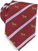 Marina D'Este Riding Horse Woven Silk Tie
