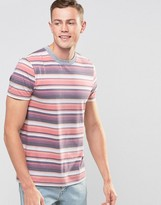 Asos T-shirt In Retro Multi Stripe