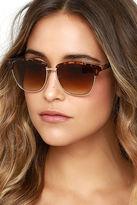 LuLu*s Accent Mark Black Sunglasses