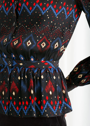 And other stories Printed Drop Waist Blouse