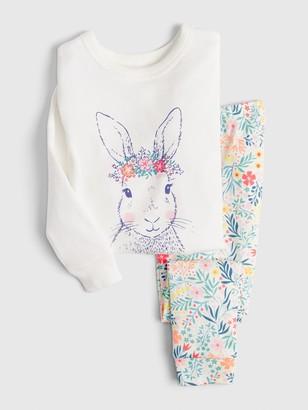 Gap babyGap Floral Bunny PJ Set