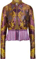 Etro Tassel-trimmed Floral-jacquard Jacket - Violet
