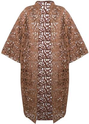 Gianluca Capannolo Brocade Lace Coat