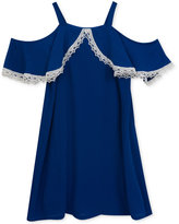 Rare Editions Cold Shoulder Crepe Dress, Big Girls (7-16)