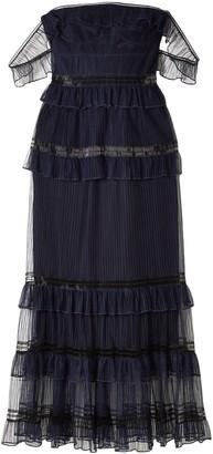 Jonathan Simkhai Off-the-shoulder Ruffled Tulle Midi Dress