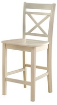ACME Furniture Tartys Counter Height Dining Chair Wood/Cream (Set of 2) - Acme