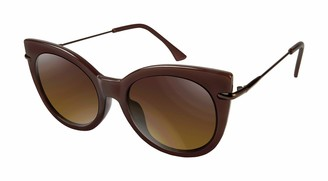 Tahari Women's TH677 Cat-Eye Sunglasses with Metal Temple & 100% UV Protection 50 mm