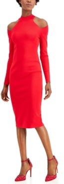 INC International Concepts Inc Petite Cold-Shoulder Sweater Dress, Created for Macy's