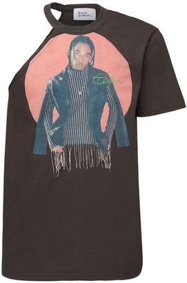 Telfar Asymmetrical Cotton Jersey T-Shirt