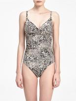 Calvin Klein Snake Print V-Neck Swimsuit