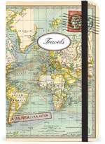 Cavallini & Co. NBWRDNEW/SM Small Notebooks World Map 2 Travels 4x6