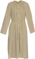 Lemaire Tie-waist cotton-crepe dress