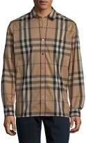 Burberry Men's Plaid Dress Shirt
