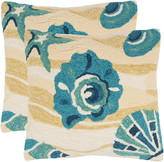 Safavieh Beyond The Sea Set Of Two Decorative Indoor/Outdoor Pillows