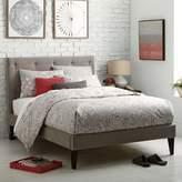 west elm Narrow-Leg Upholstered Bed Frame - Dove Gray