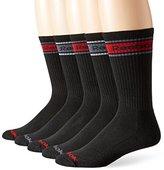 Reebok Men's 5 Pack Tube Logo Crew Socks