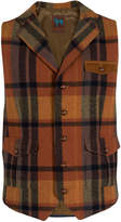 James Tattersall Men's Wool Checkered Notch Lapel Vest