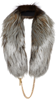 DEMARSON Eva Metallic Fur Sash