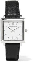 Larsson & Jennings Norse Leather And Silver-plated Watch - One size