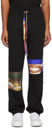 Amiri Black Patch Scarves Lounge Pants