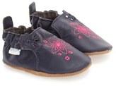 Robeez 'Flowerbomb Embroidery' Crib Shoe (Baby & Walker)