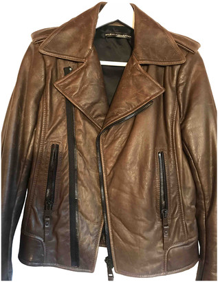 Balenciaga Brown Leather Leather jackets