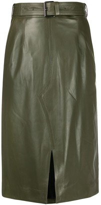 Marni High-Waist Belted Skirt