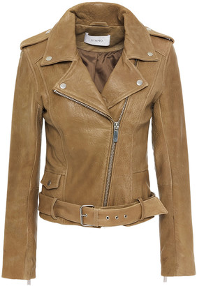 Stand Studio Daria Textured-leather Biker Jacket